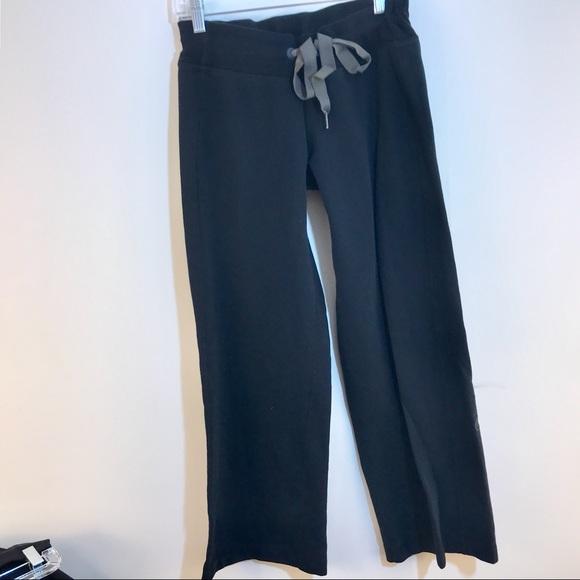 limited quantity famous designer brand lovely design LULULEMON wide leg PANTS 8 drawstring sweatpants